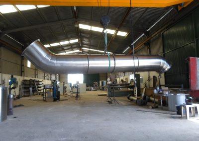 Fabricación de evacuadores de gases