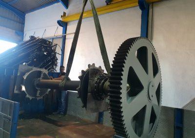 Fabricación y montaje de cabeza de arrastre de extractor de exano